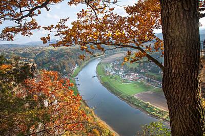 Picturesque View. Saxon Switzerland Print by Jenny Rainbow