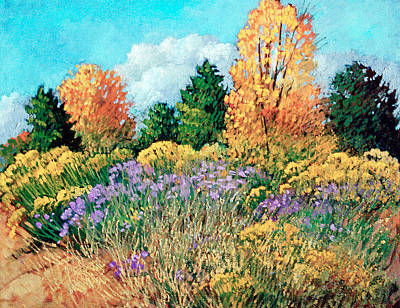 Aster Painting - Picuris by Donna Clair