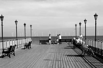 Pier End View At Skegness Print by Rod Johnson