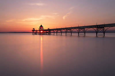 Clevedon Photograph - Pier Flare by Anthony Mitchell