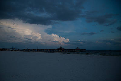 Sea Photograph - Pier Lights by J Darrell Hutto