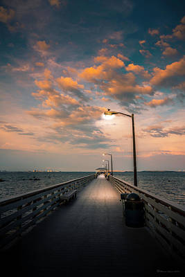 Pier Lights Print by Marvin Spates