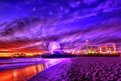 Los Angeles Photograph - Pier Of Lights by Midori Chan