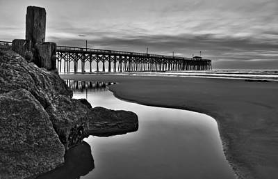 Pier Reflections Print by Ginny Horton