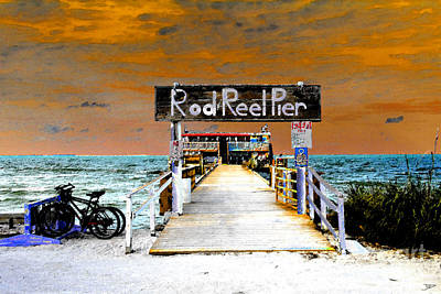 Florida Digital Art - Pier Scape by David Lee Thompson