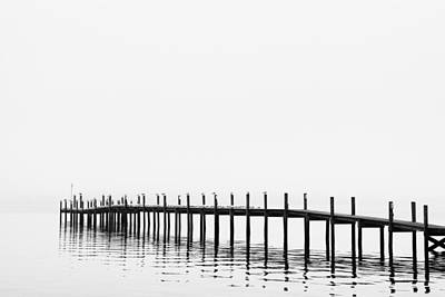 White River Scene Photograph - Pier by Skip Nall