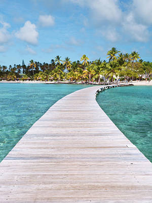 Tropical Climate Photograph - Pier To Tropical Island by Matteo Colombo