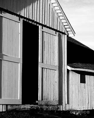 Pierce Point Ranch 16 . Bw Print by Wingsdomain Art and Photography