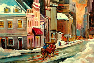 Montreal Winterscenes Painting - Pierre Du Calvet House Old Montreal by Carole Spandau