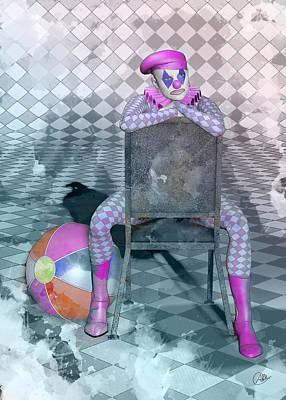 Showgirls Digital Art - Pierrette Watercolor  by Quim Abella