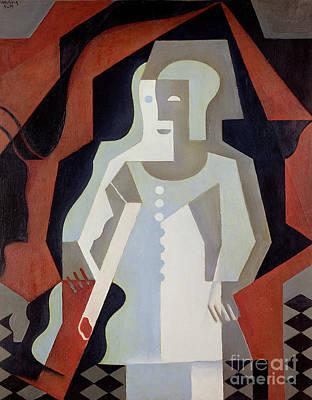 Pierrot Painting - Pierrot by Juan Gris