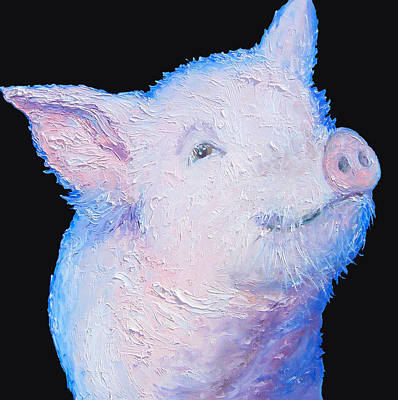 Pig Painting For The Kitchen Print by Jan Matson