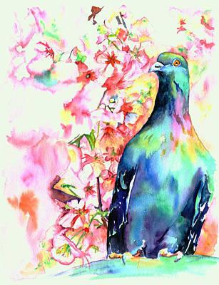 Pigeon Eye Original by Christy  Freeman