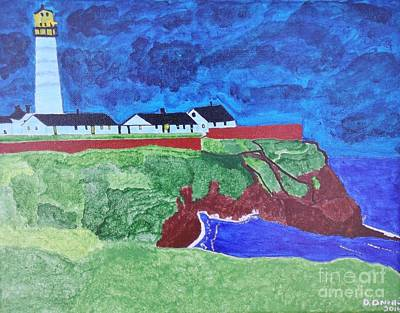 New England Lighthouse Painting - Pigeon Point Lighthouse by Dennis ONeil