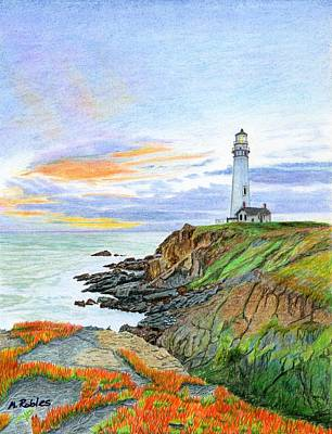 Pigeon Point Sunset Original by Mike Robles