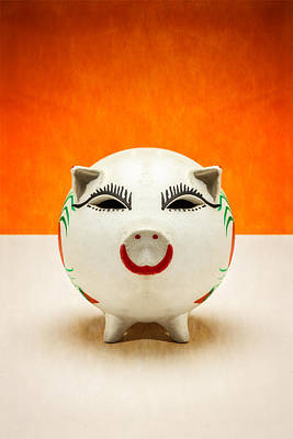 Coins Photograph - Piggy Bank Smile by Yo Pedro