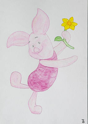 New Born Painting - Piglet by Paul Bartoszek
