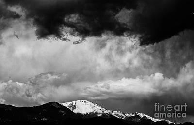Pikes Peak Dramatic Skies Print by Dennis Wagner