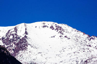 Pikes Peak On A Clear Day Print by Dennis Wagner