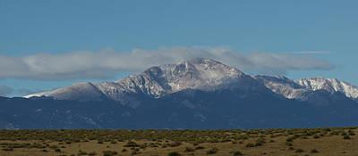 Pikes Peak Panoramic Print by Ernie Echols
