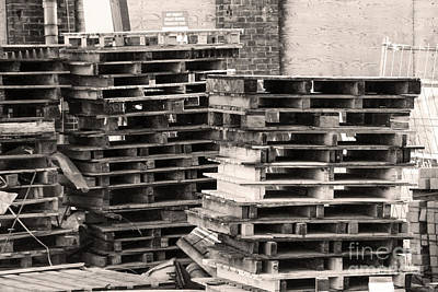 Wooden Platform Digital Art - Pile Of Pallets by Adriana Zoon
