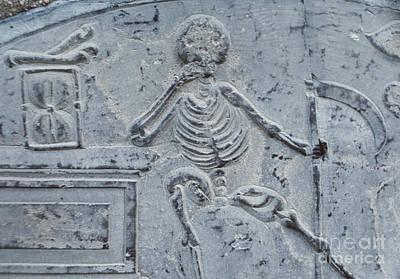 Skull Photograph - Pilgrim Tombstone 3 by The Phillip Harrington Collection