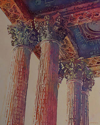 Corinthians Painting - Pillars Of The Humanities by Jenny Armitage