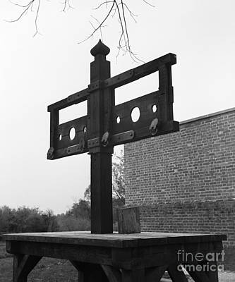 Public Jail Photograph - Pillory In Colonial Williamsburg by H. Armstrong Roberts/ClassicStock