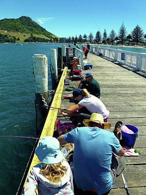 Pilot Bay Beach 6 - Mount Maunganui Tauranga New Zealand Print by Selena Boron