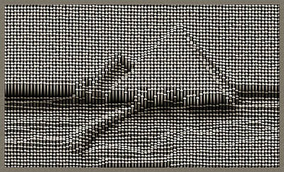 Digital Art - Pin Art Pyramids by Mario Carini