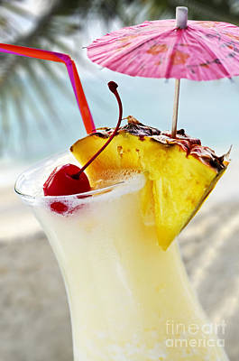 Froth Photograph - Pina Colada by Elena Elisseeva