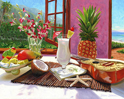 Cocktail Painting - Pina Colada by Steve Simon