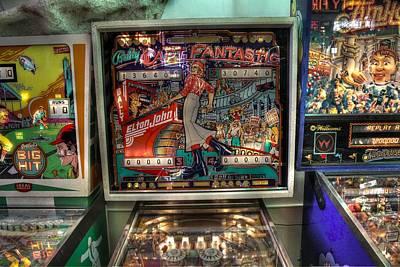 Pinball Elton John Bally Print by Jane Linders