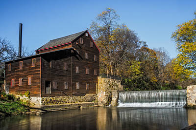 Muscatine Photograph - Pine Creek Grist Mill 2 by Paul Freidlund
