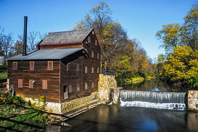 Muscatine Photograph - Pine Creek Grist Mill by Paul Freidlund