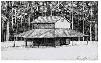 Pine Hill Tobacco Shed Print by Peter Paul Lividini