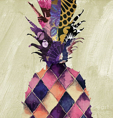 Pineapple Brocade II Print by Mindy Sommers