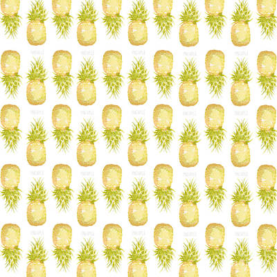Fruits Drawing - Pineapple Print by Cindy Garber Iverson