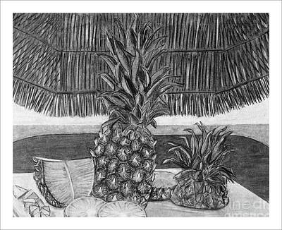 Pineapple Drawing - Pineapple by Tracy Pickett