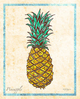 Pineapple Mixed Media - Pineapple by William Depaula