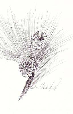 Pinecones Print by Barbara Cleveland