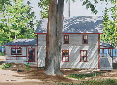 Pinehurst Cottage Print by Karol Wyckoff