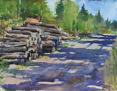 Logging Painting - Piney Creek Trestle Road by Spencer Meagher
