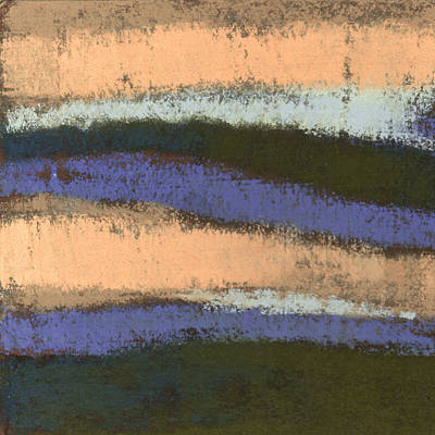 Pottery Barn Style Painting - Pink And Blue Abstract by Janine Aykens