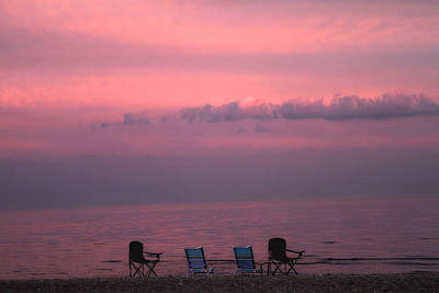 Empty Chairs Photograph - Pink And Deserted by Karol Livote