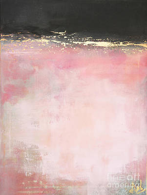 Anahi Decanio Painting - Pink And Gold - Again by Anahi DeCanio