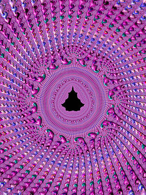 Mandelbrot Set Digital Art - Pink And Purple Fractal Crochet Ornaments by Matthias Hauser