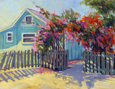Mission San Juan Capistrano Painting - Pink And Red by Konnie Kim