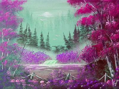 Acrylic Painting - Pink And Violet  Mist by Collin A Clarke