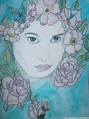 Pink Flower Print by Anne Bazabidila